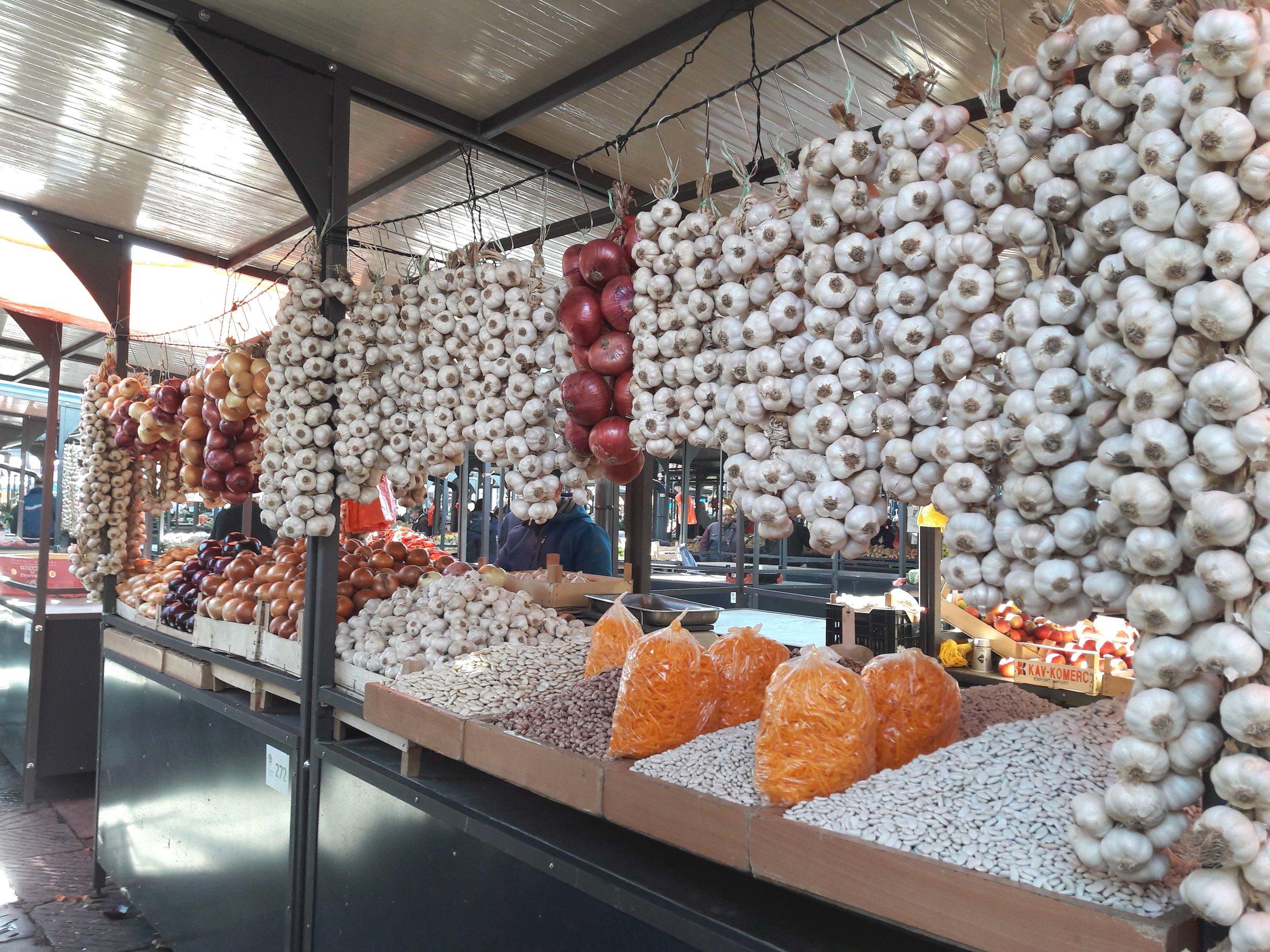 Garlic, Beans, Onions & Grated Pumpkin