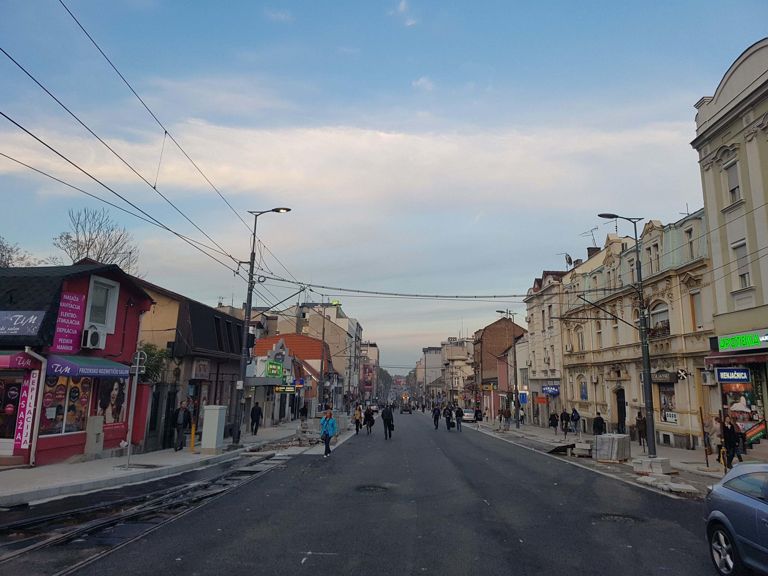 Reconstruction of Ruzveltova Street