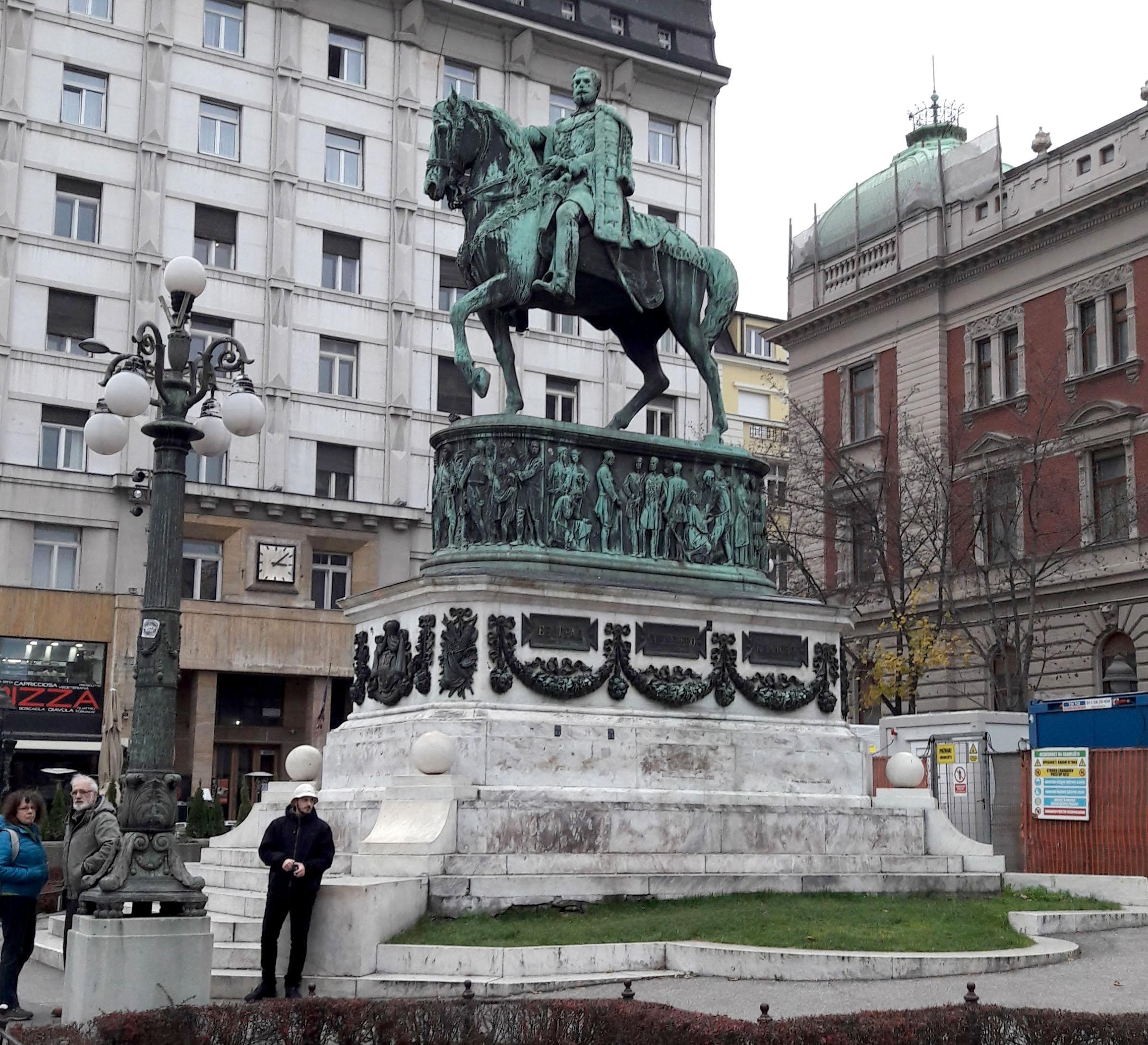 Knez Mihailo (Prince Michael) in 'Trg Republike' (Republic Square)