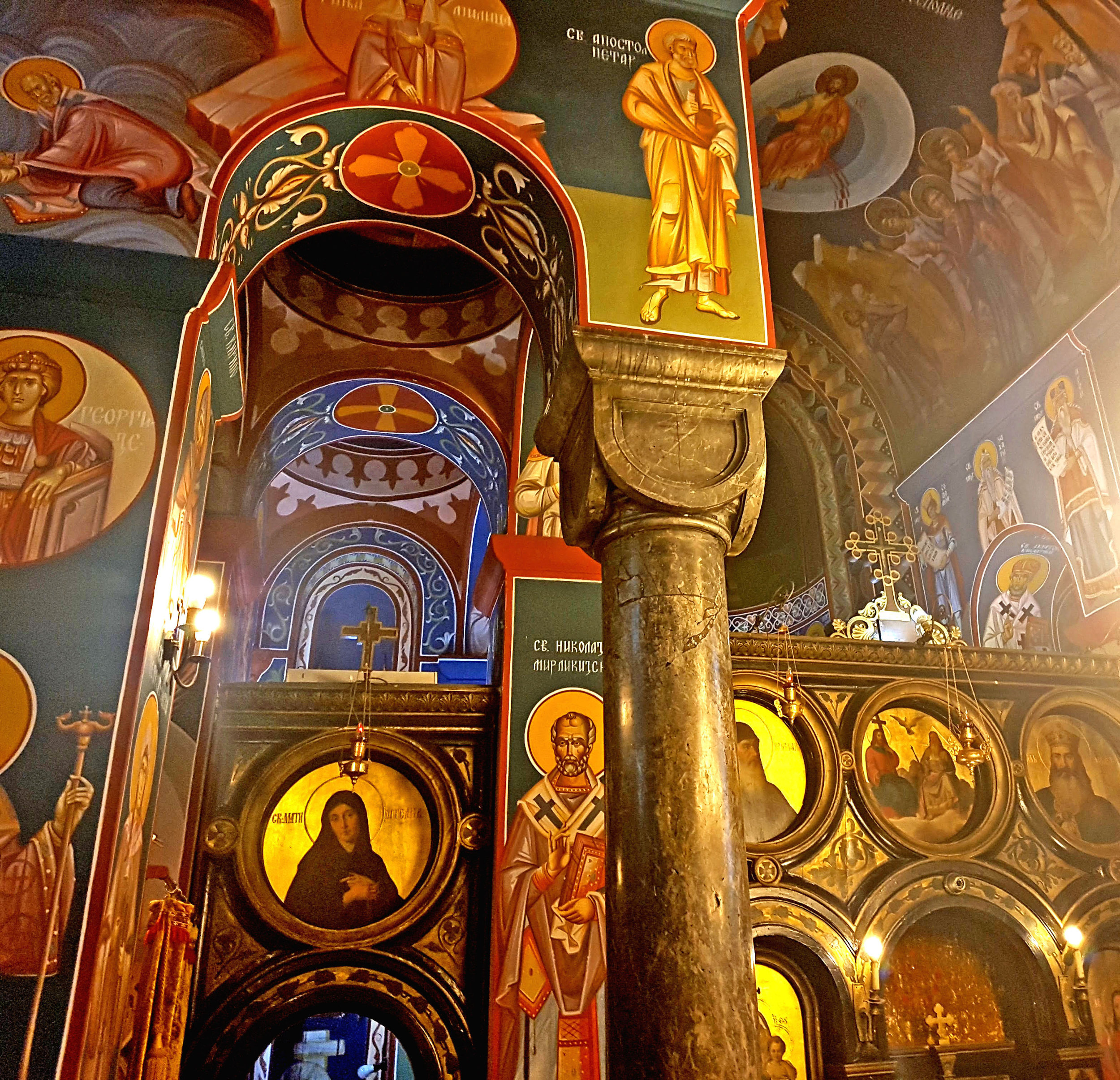 Beautiful interior of 'Crvka Svetog Nikole' (St Nicholas' Church)