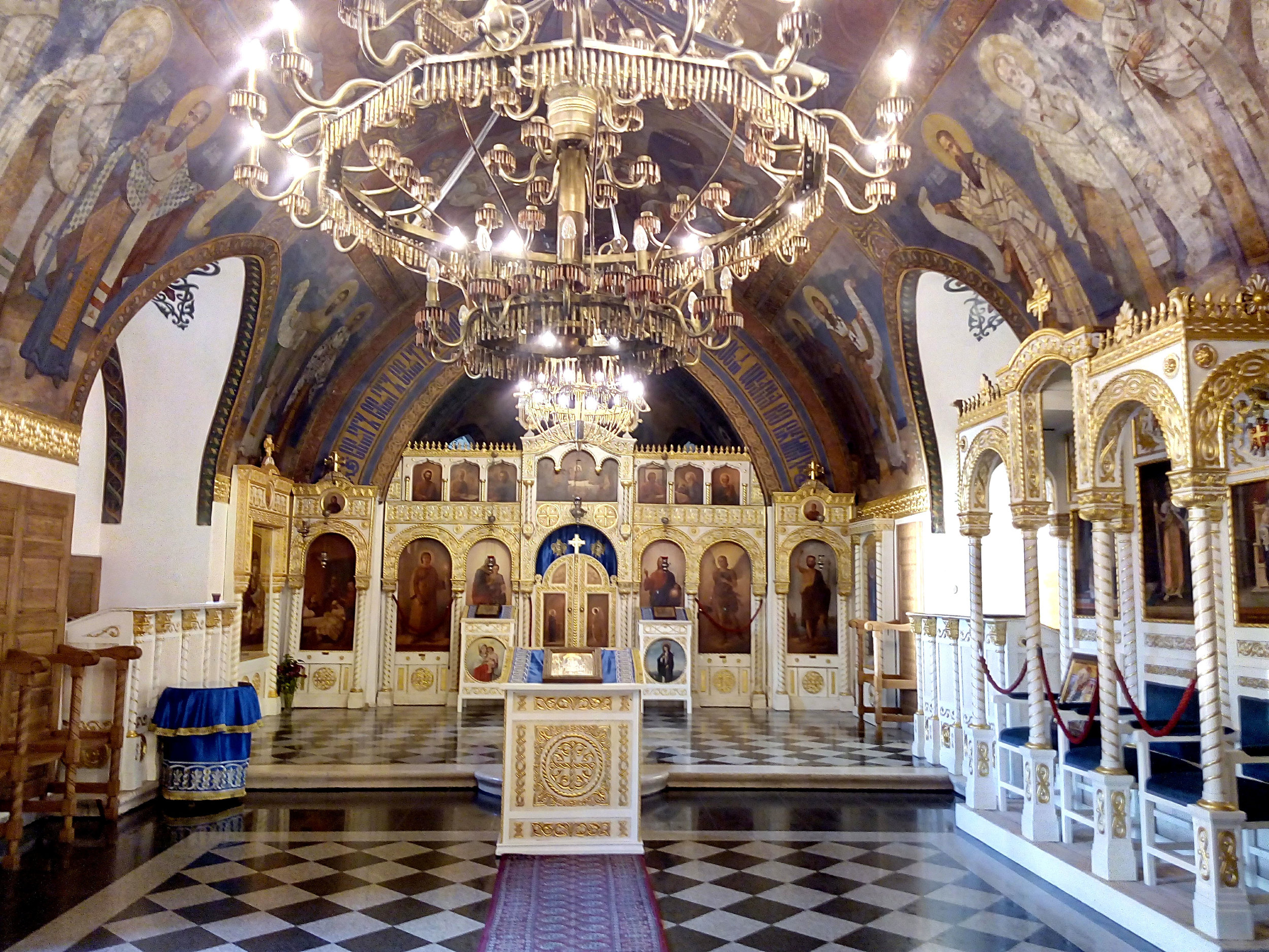 Interior of Ružica Church