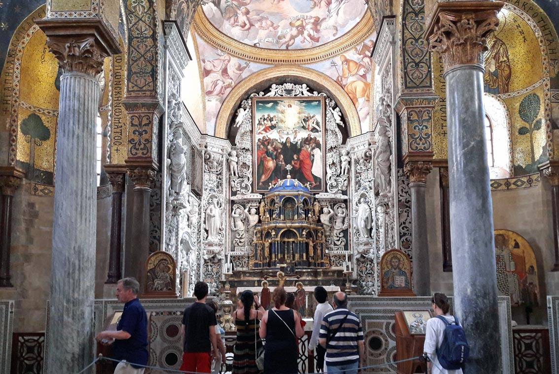 Church of Santa Maria dell'Ammiraglio, a marriage of Norman & Byzantine styles