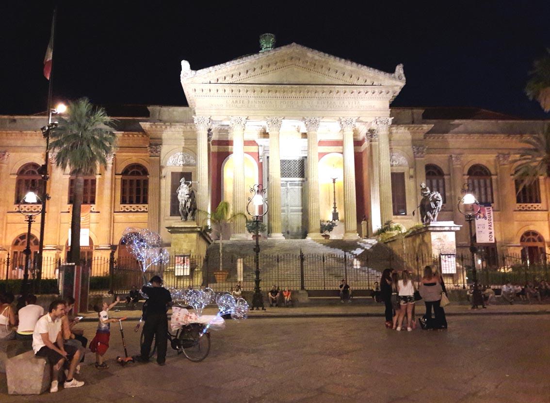 Teatro Massimo, a location for Copolla's film, 'The Godfather III'