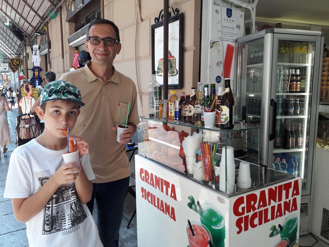 Granita,   a Sicilian iced dessert