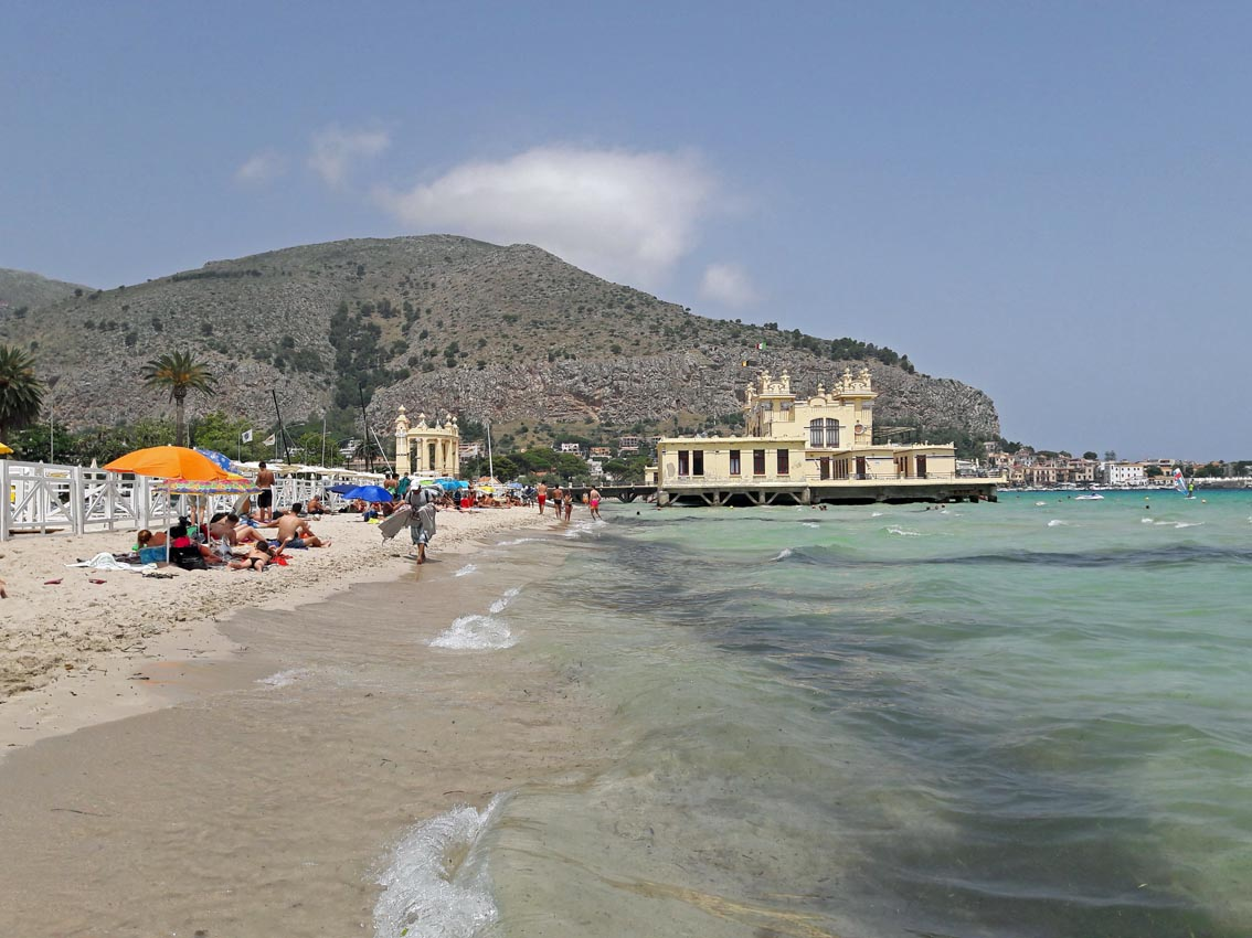 The Art Nouveau Stabilimento Balneare was built in 1913 for aristocratic Sicilians to bathe in the sea.
