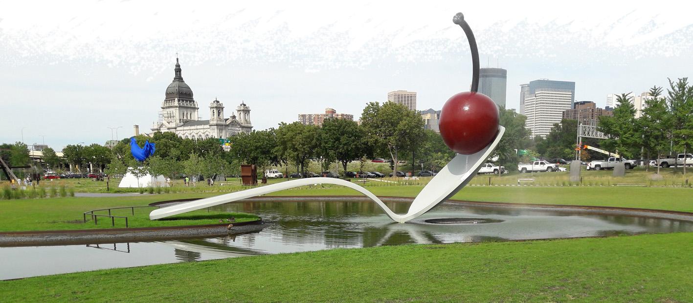 'Spoonbridge and Cherry' sculpture, Minneapolis Sculpture Park