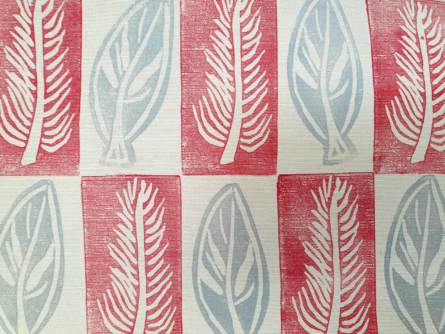 Leaf Red & Grey Fabric.jpg