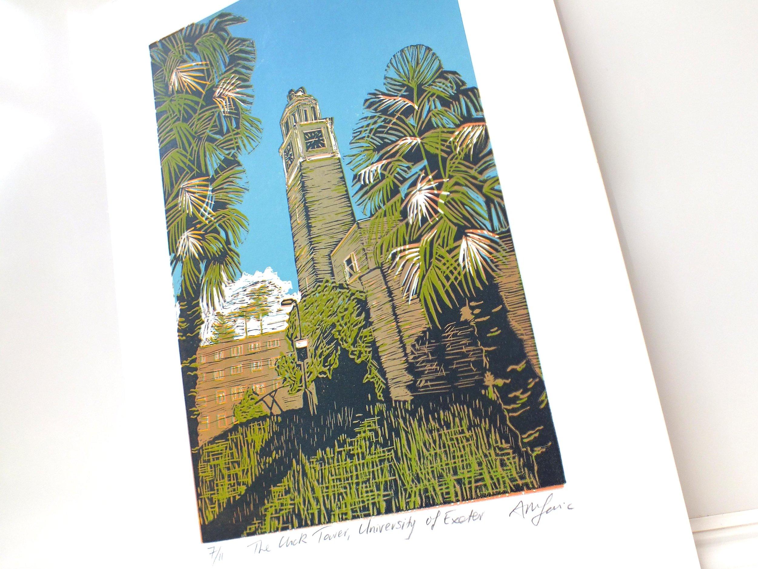 Clock tower lino #7 angled.jpg