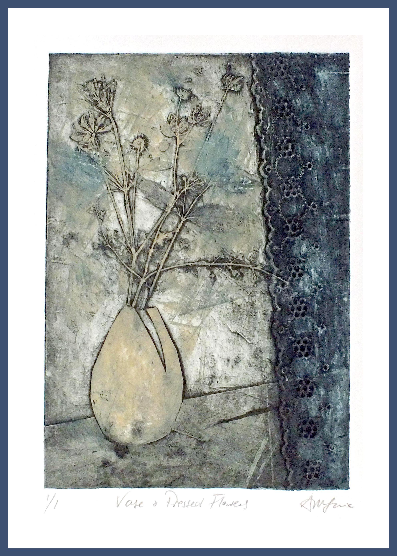Vase _ Flowers dk Blue image Framed.jpg
