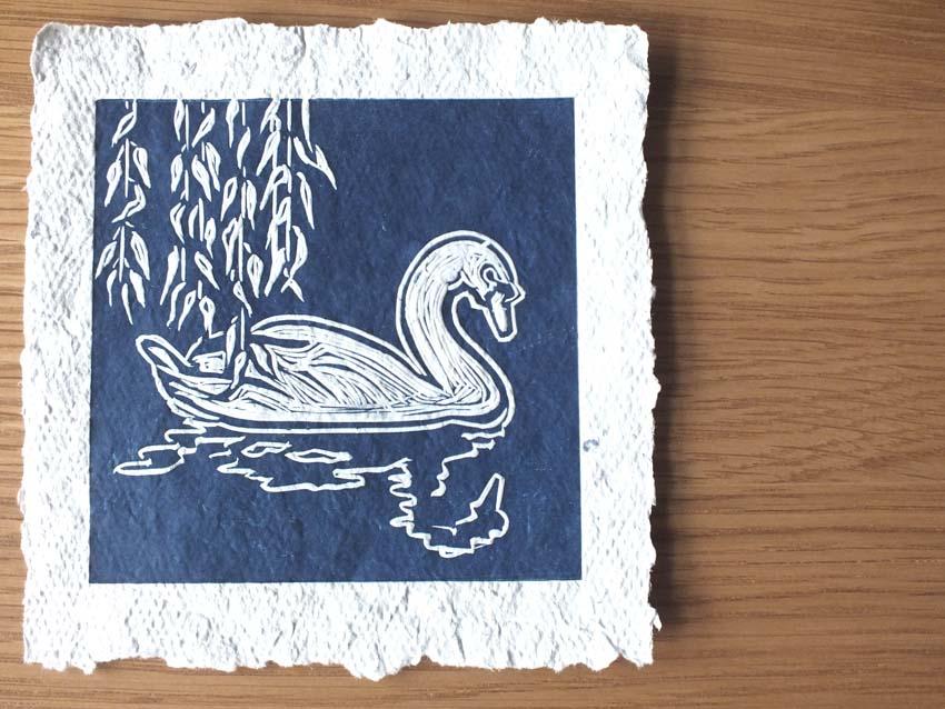 Swan handmade paper complete 2.jpg