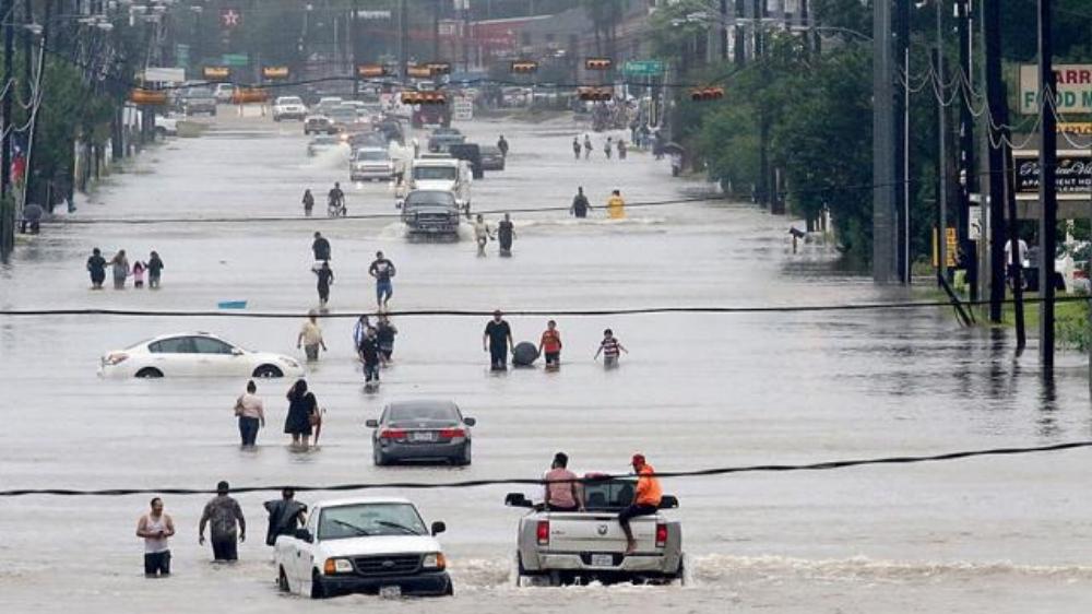 Climate flooding - Hurricane Harvey