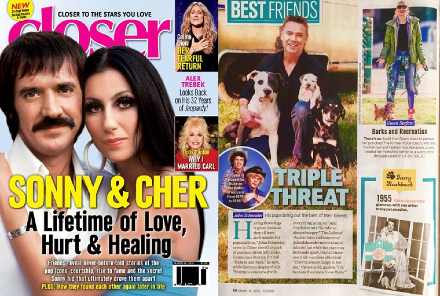 "As seen in ""CLOSER"" magazine"