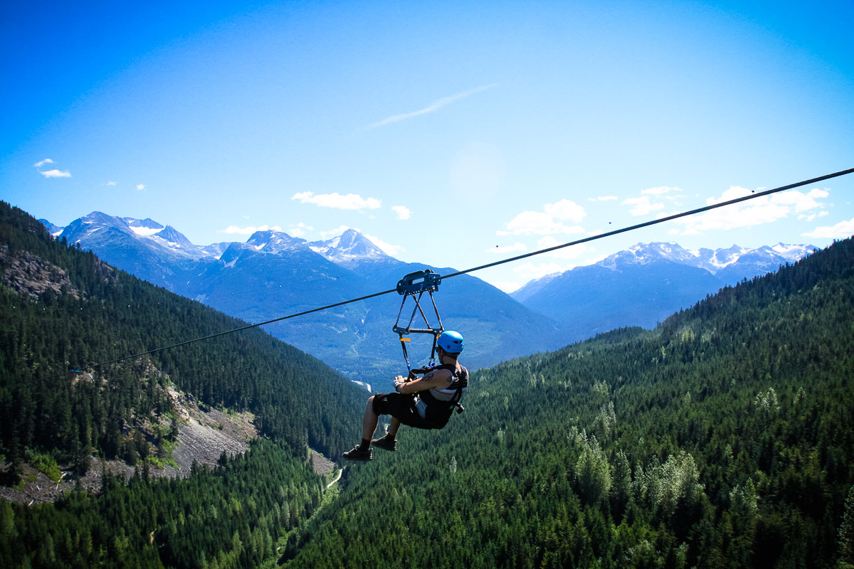 Zip Line - Top 5 fathers day ideas Whistler
