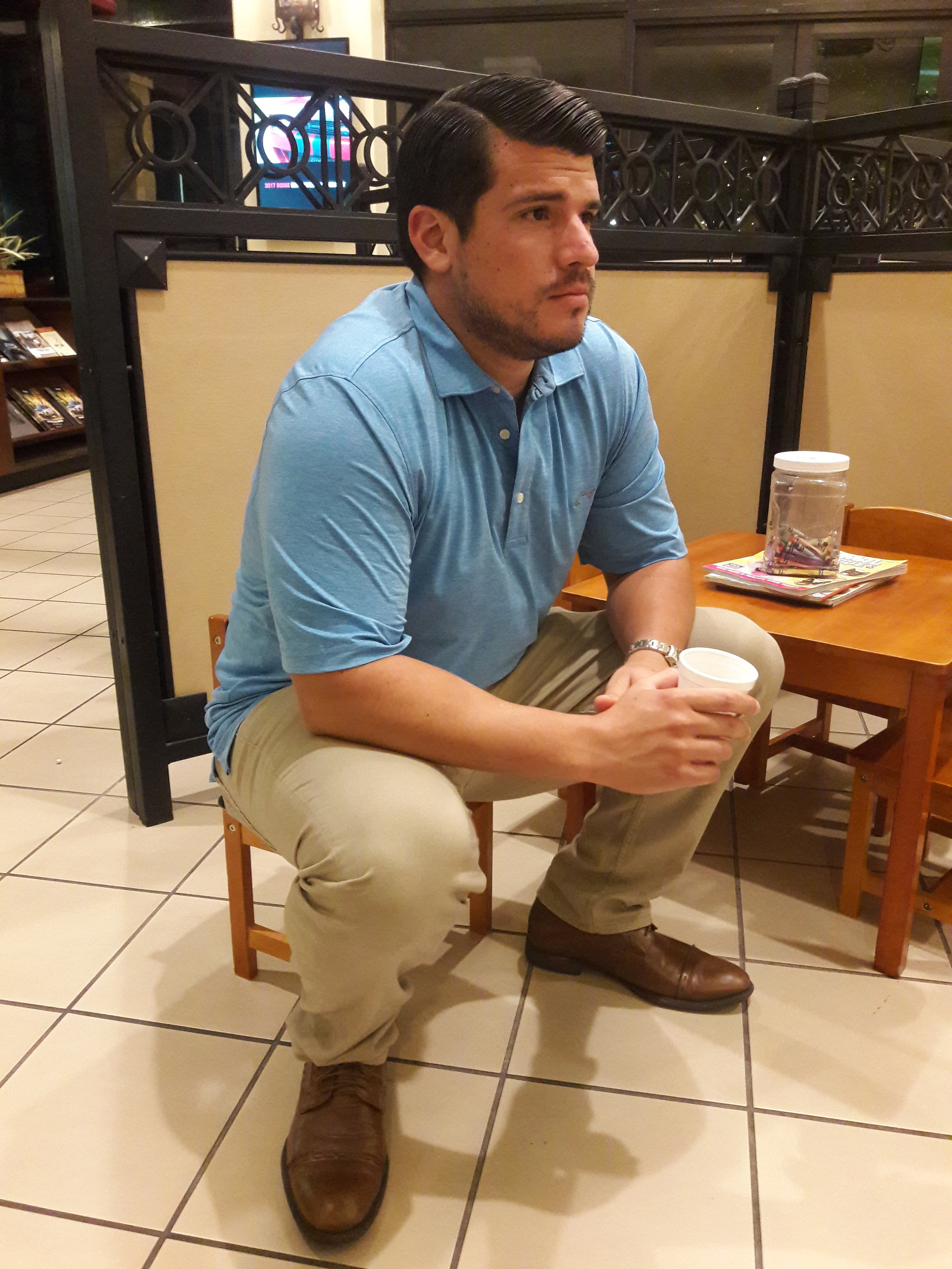 Our President, Juan, in the middle of a negotiation for JSE Financial.