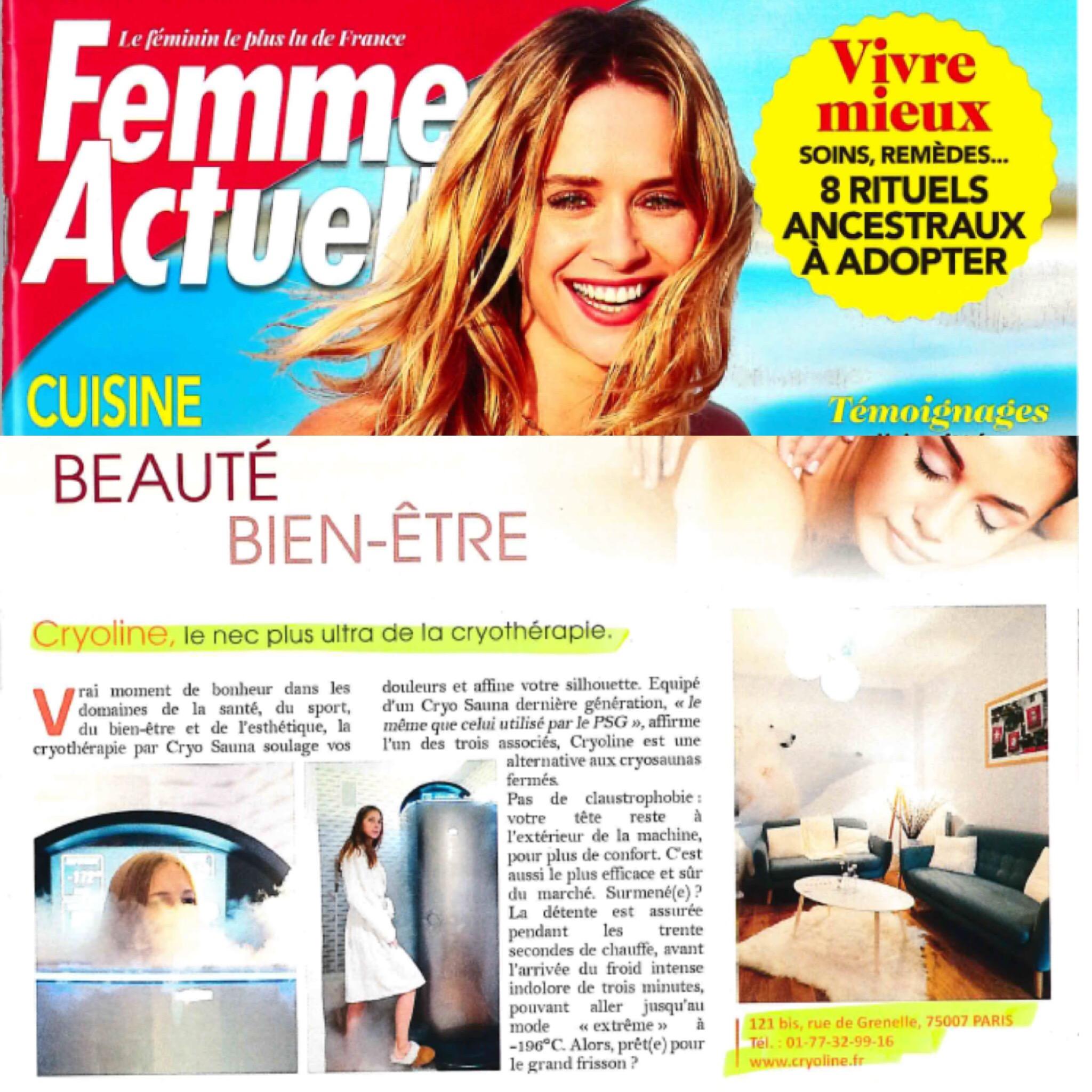 Publication dans le magazine Femme Actuelle -