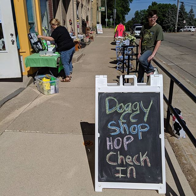 We had such a great time at our 2nd anual #doggyshophop Thank you to all of our wonderful participants and shops who loved on all of the doggies!! #marciespetsparipon #riponwi #dogevent #summer #sunshine