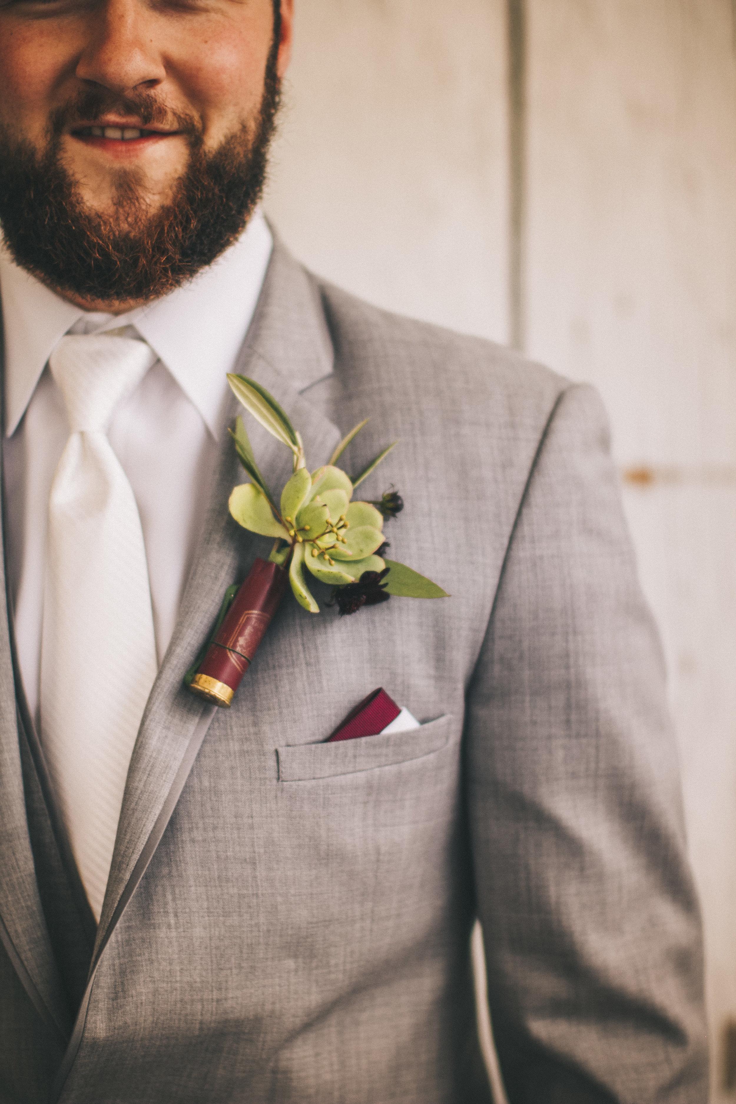 Wisconsin wedding boutonniere