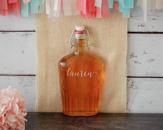 15. Custom Flask - FlowertownWeddings