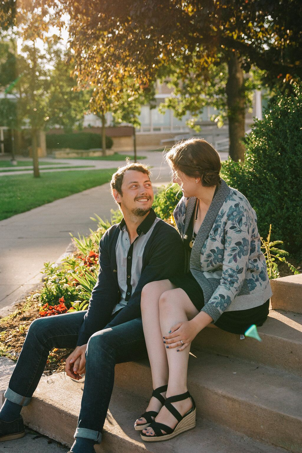 College Band Sweethearts by Maple Hope Photography featured on Destination Wisconsin Wedding Blog