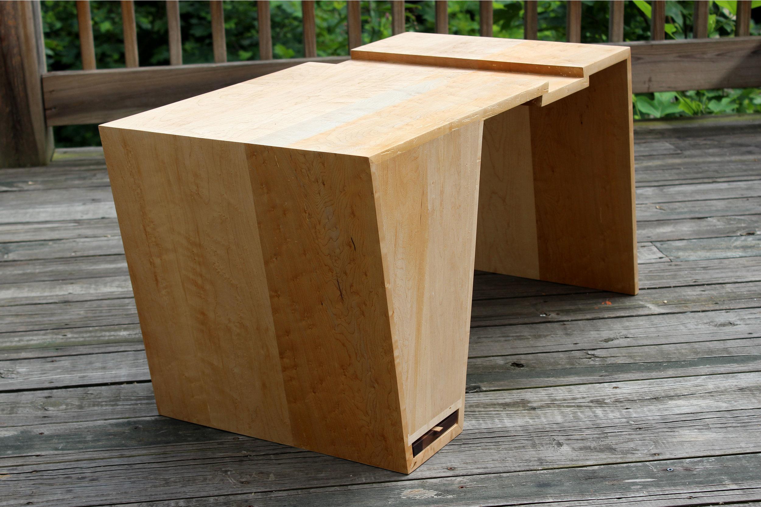 custom birdseye maple coffee table