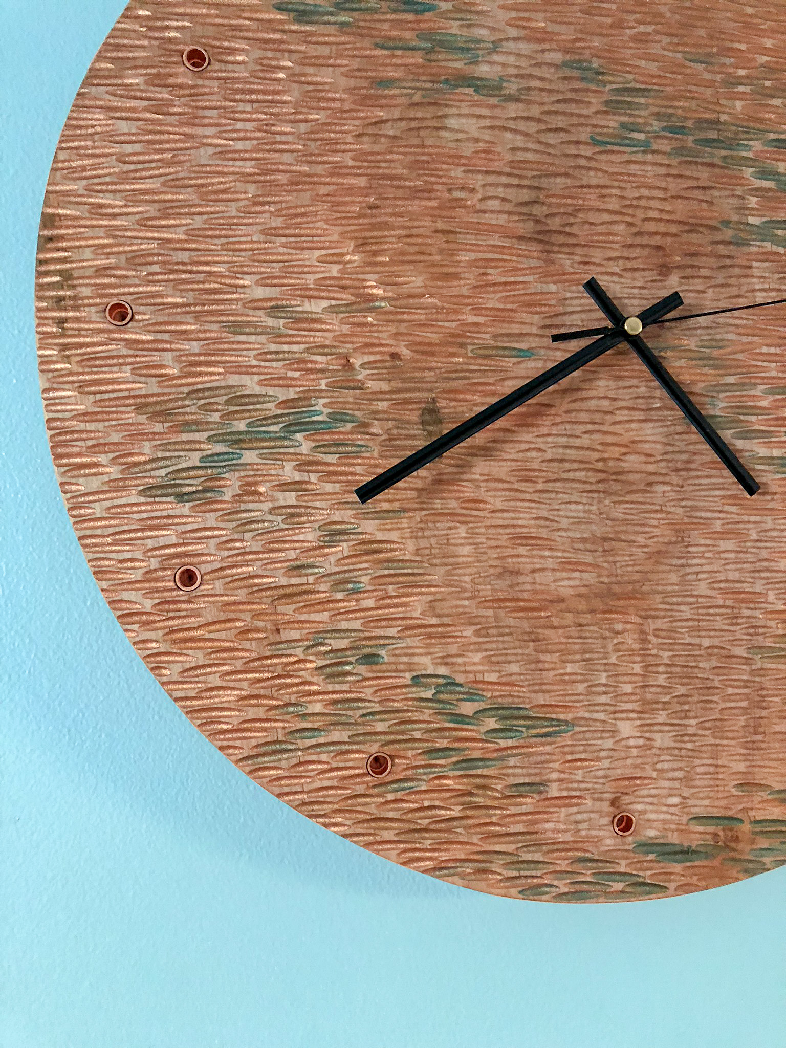 custom wooden wall clock hand carved handmade gift