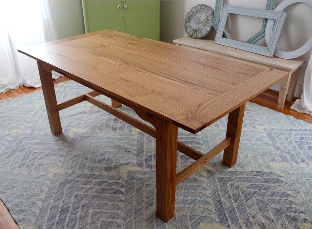 Red Oak Kitchen Table — Sallie Plumley Studio- Custom ...