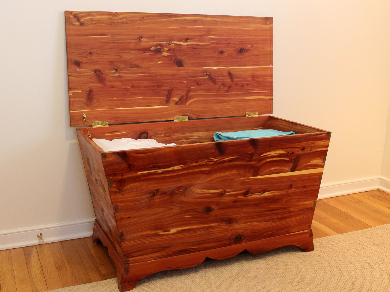 custom cedar hope chest cedar blanket chest mid century modern furniture Sallie Plumley Studio Richmond Virginia Sally Plumley Custom Woodworking and Furniture Design