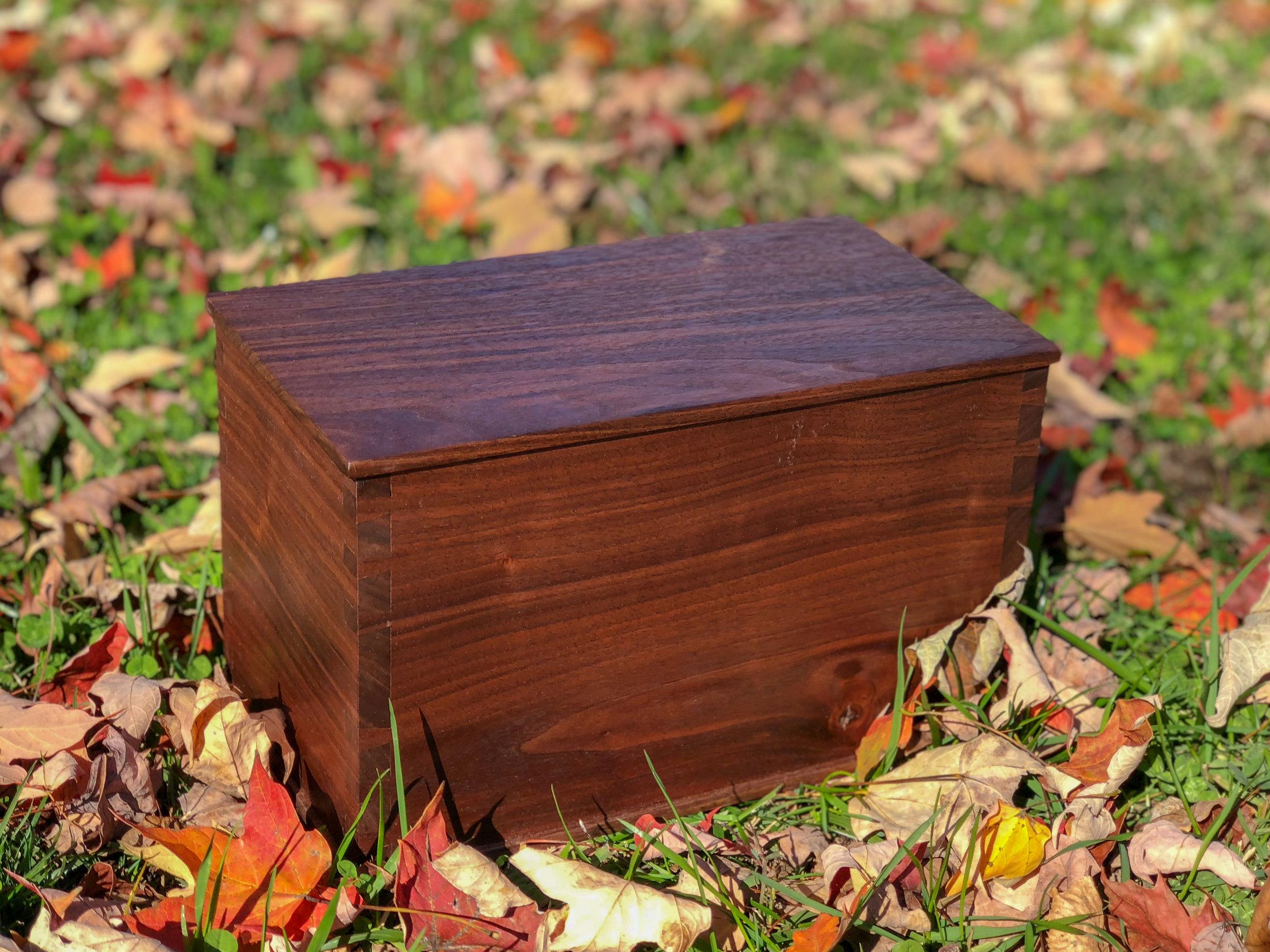 Wooden Cremation Urn. handmade wooden box. sallie plumley studio. richmond virginia