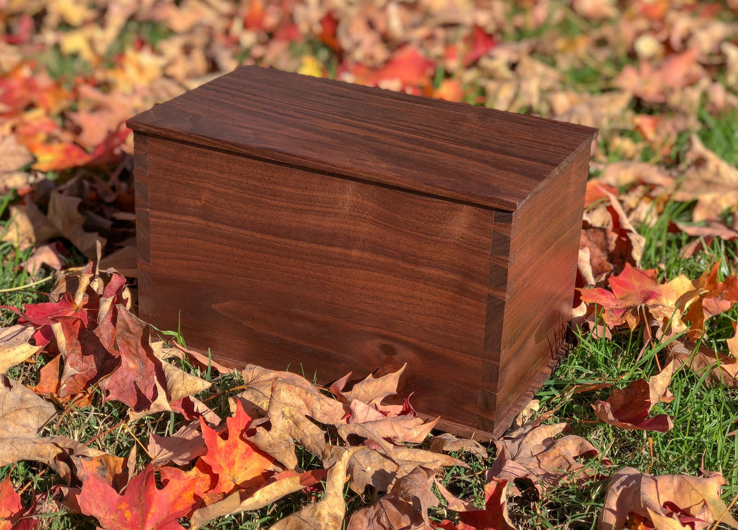 custom wooden cremation urn