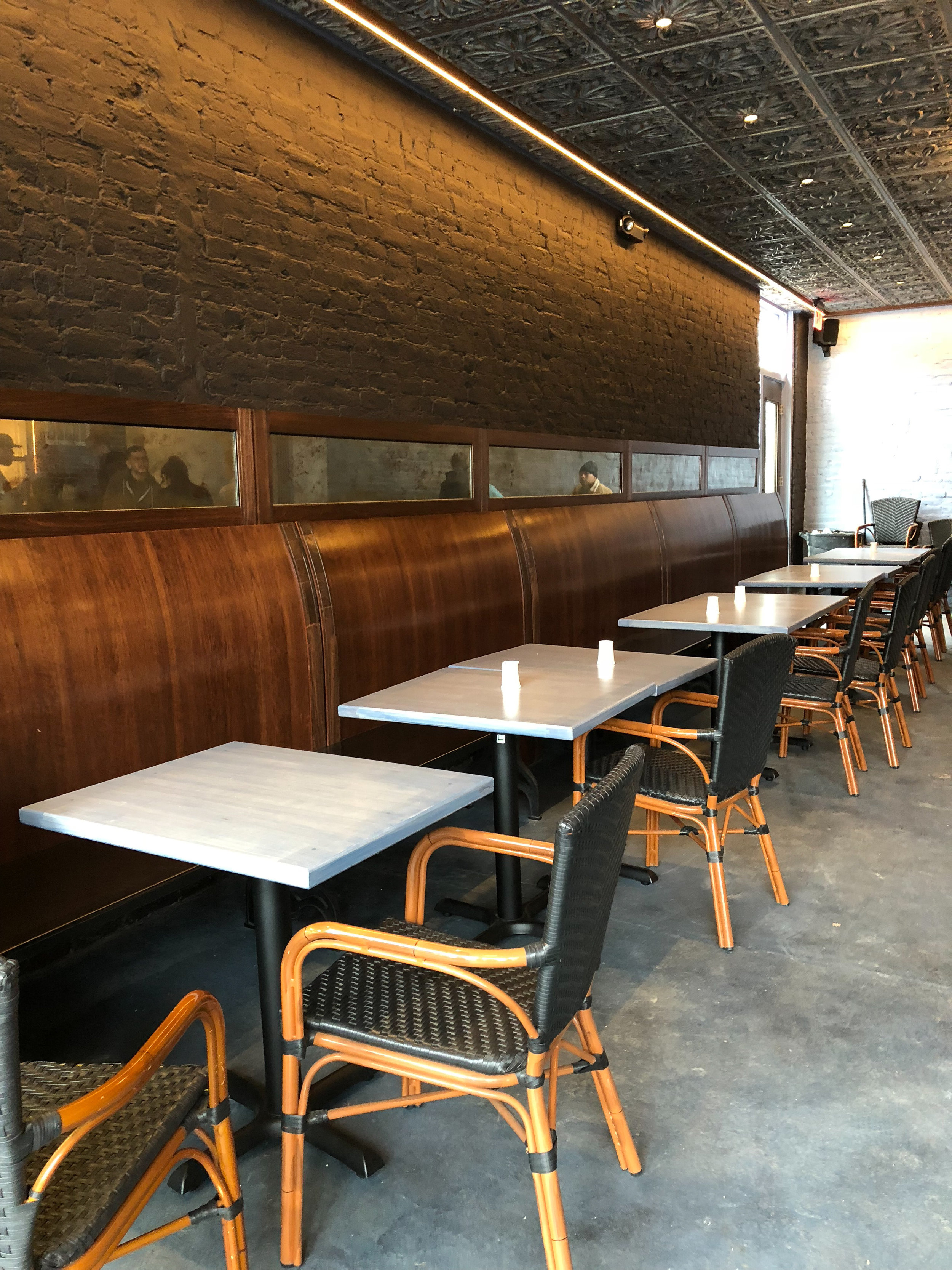 Cafe Clang! - Tabletops and benches