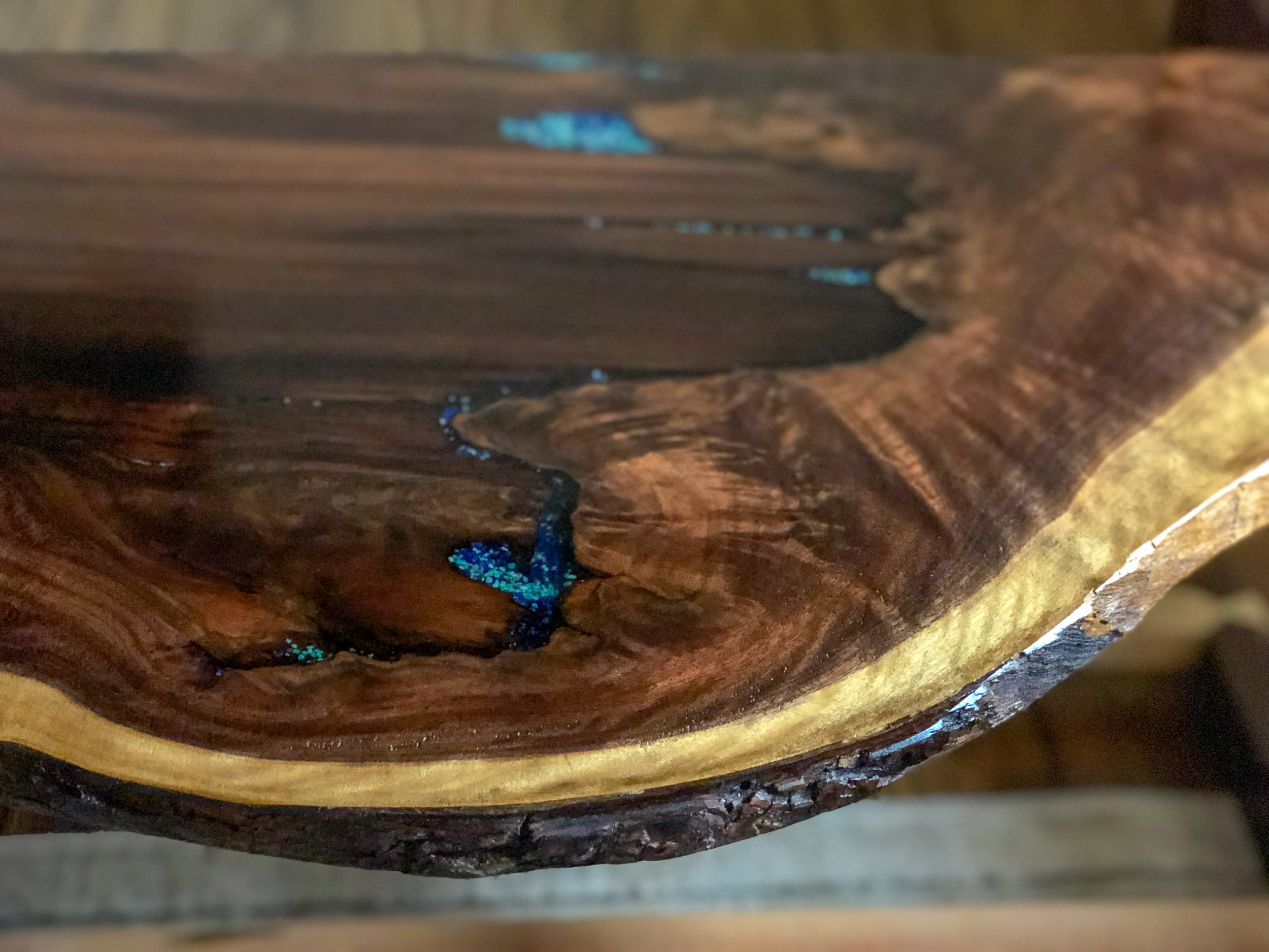 Custom Live Edge Walnut Side Table Sallie Plumley Studio Richmond Virginia Sally Plumley