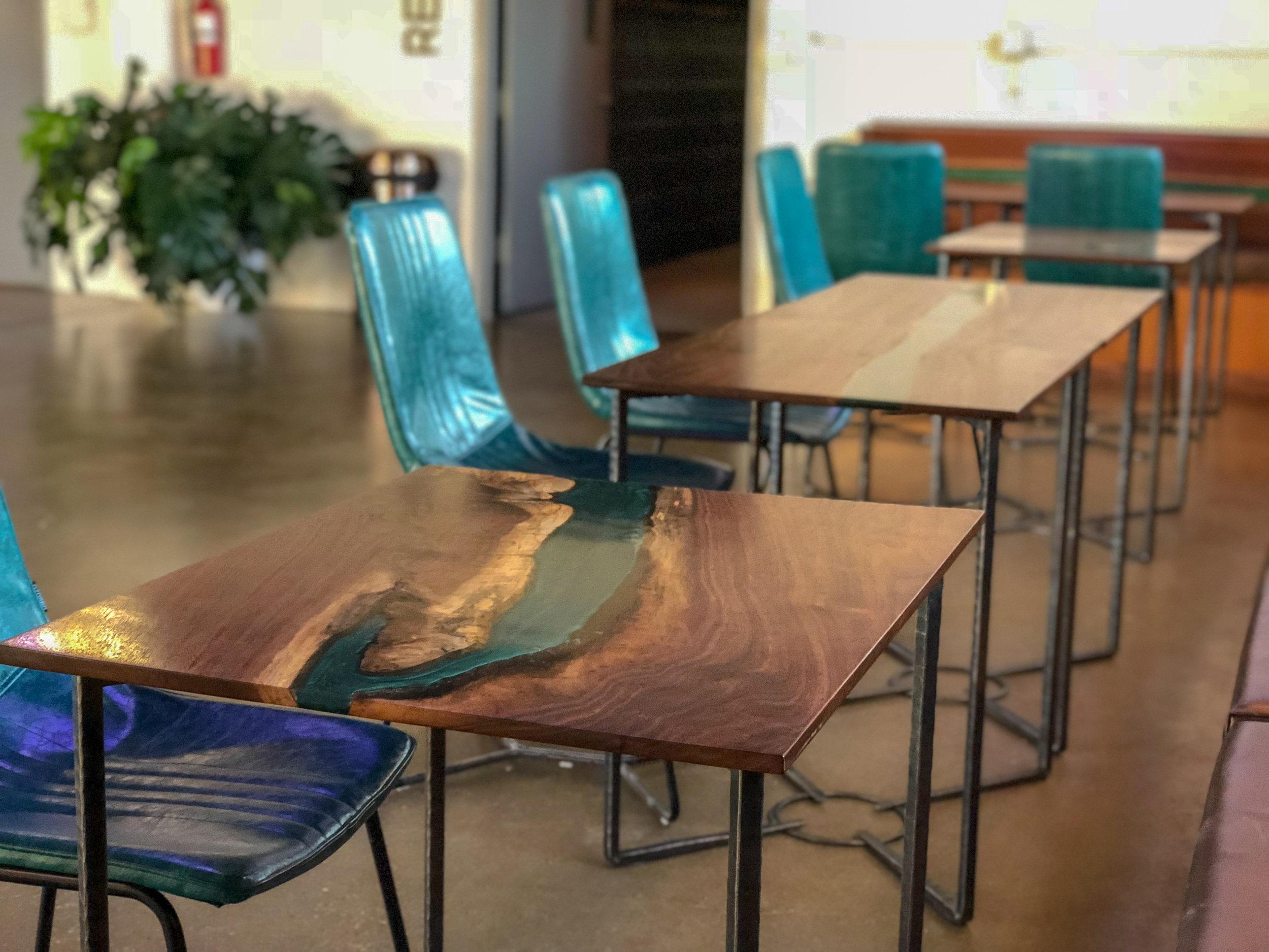 River Table Live Edge Tabol brewing Sallie Plumley Studio Richmond Virginia Sally Plumley Custom Woodworking and Furniture Design