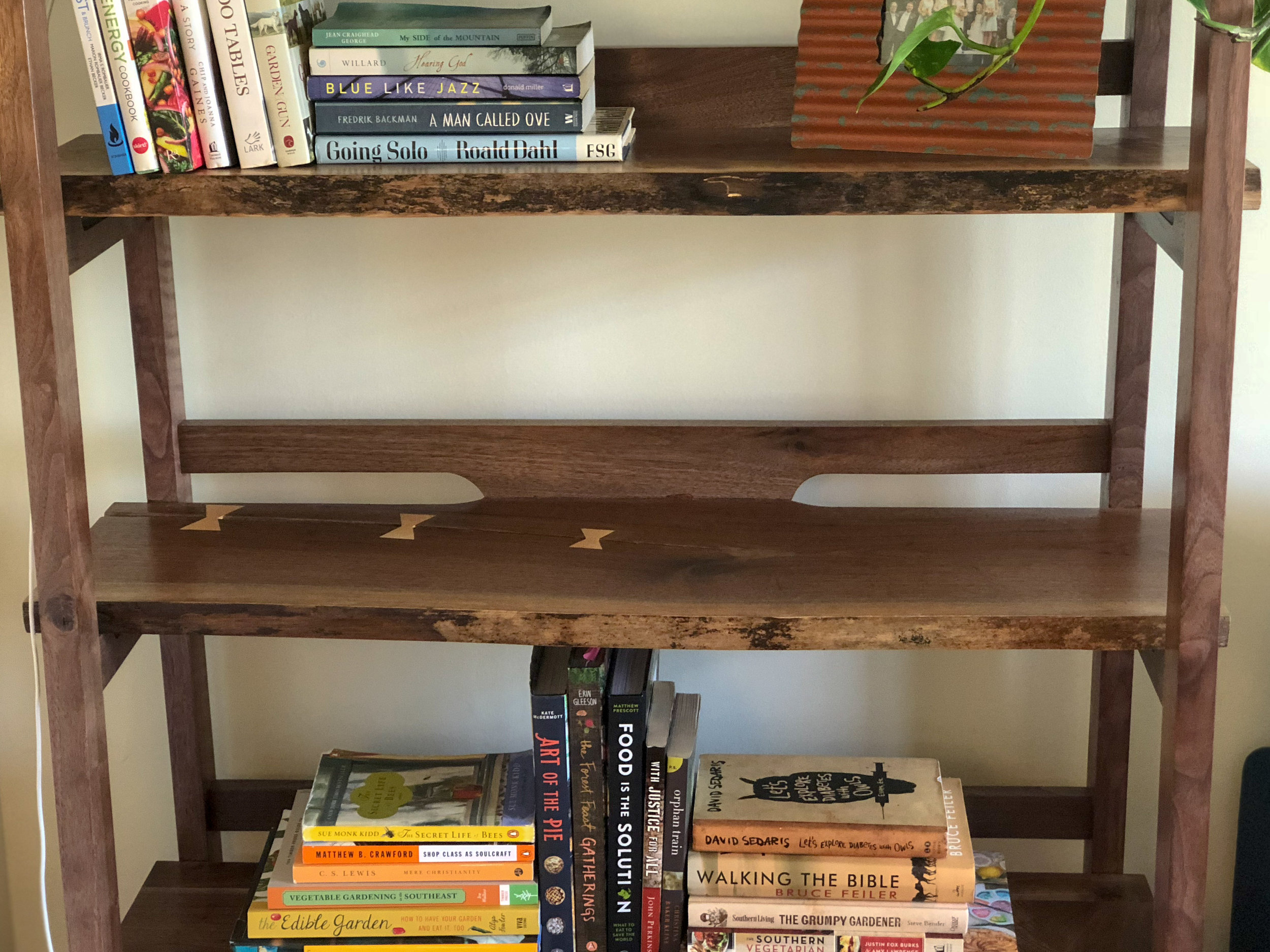 Live Edge Walnut Elliot Bookshelf Sallie Plumley Studio Richmond Virginia Sally Plumley