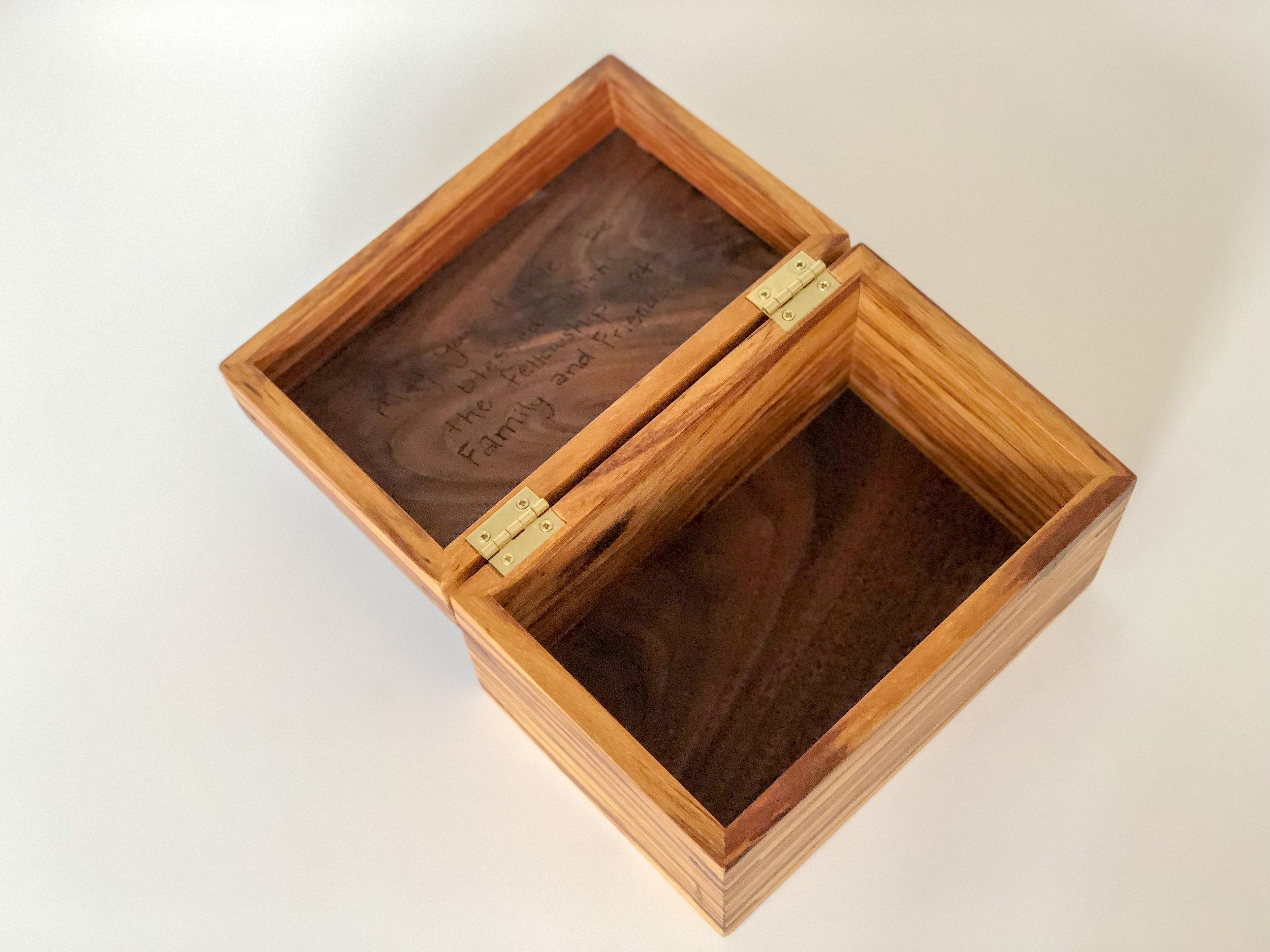 Olive Wood Recipe Box