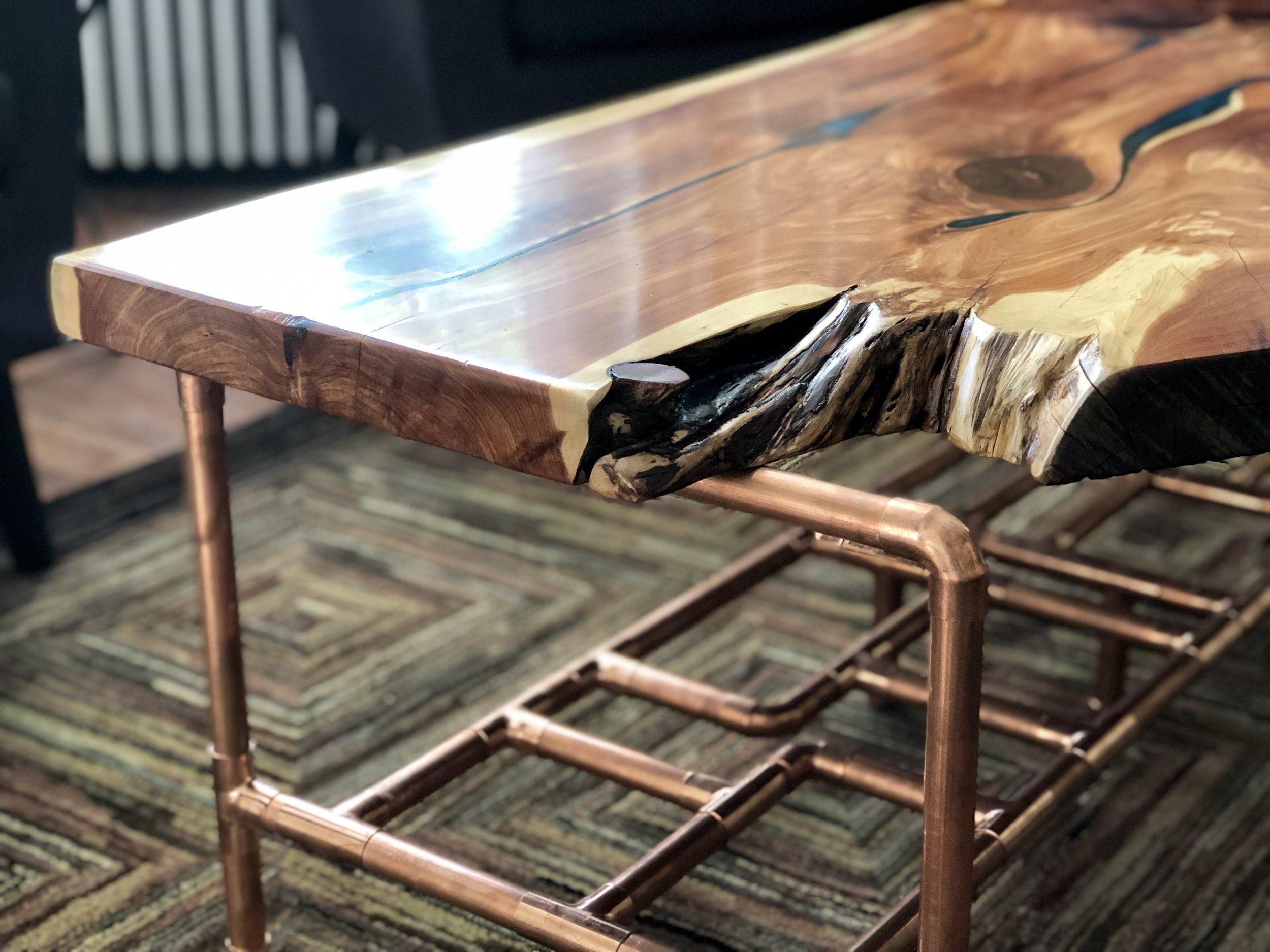 Aromatic Cedar Live Edge Coffee Table Sallie Plumley Studio Richmond Virginia Sally Plumlee