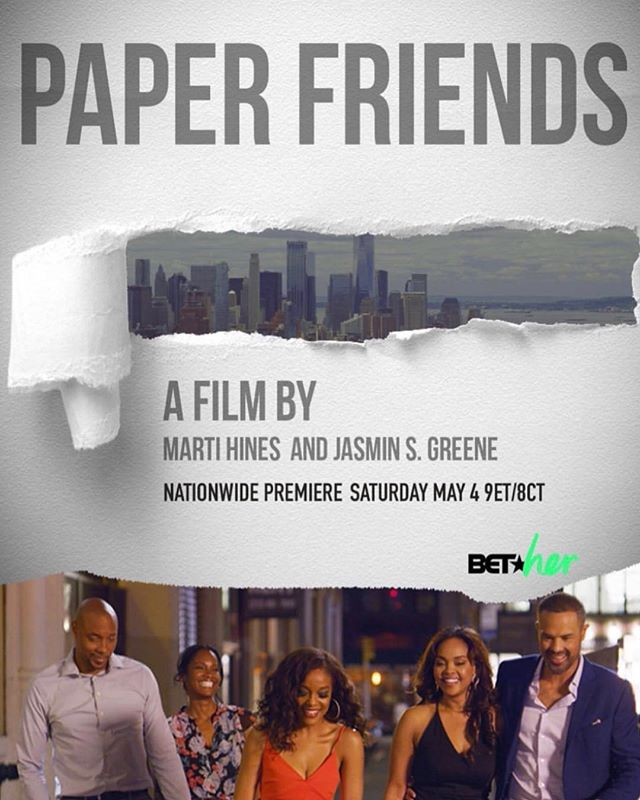Tune in Saturday May 4th at 9ET/8CT to @bethertv to see @martiehines NEW film #PaperFriends!