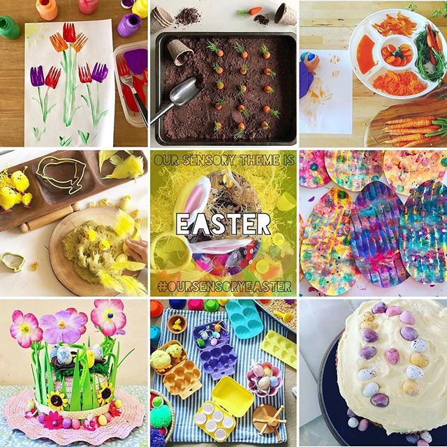 Here are your chosen favourites for our theme this month! What a load of EASTER fun! . Thank you to everyone for playing along by tagging #oursensoryeaster we have collected 1000 ideas ready for future fun! You are amazing! . Now let's bring on our next theme!
