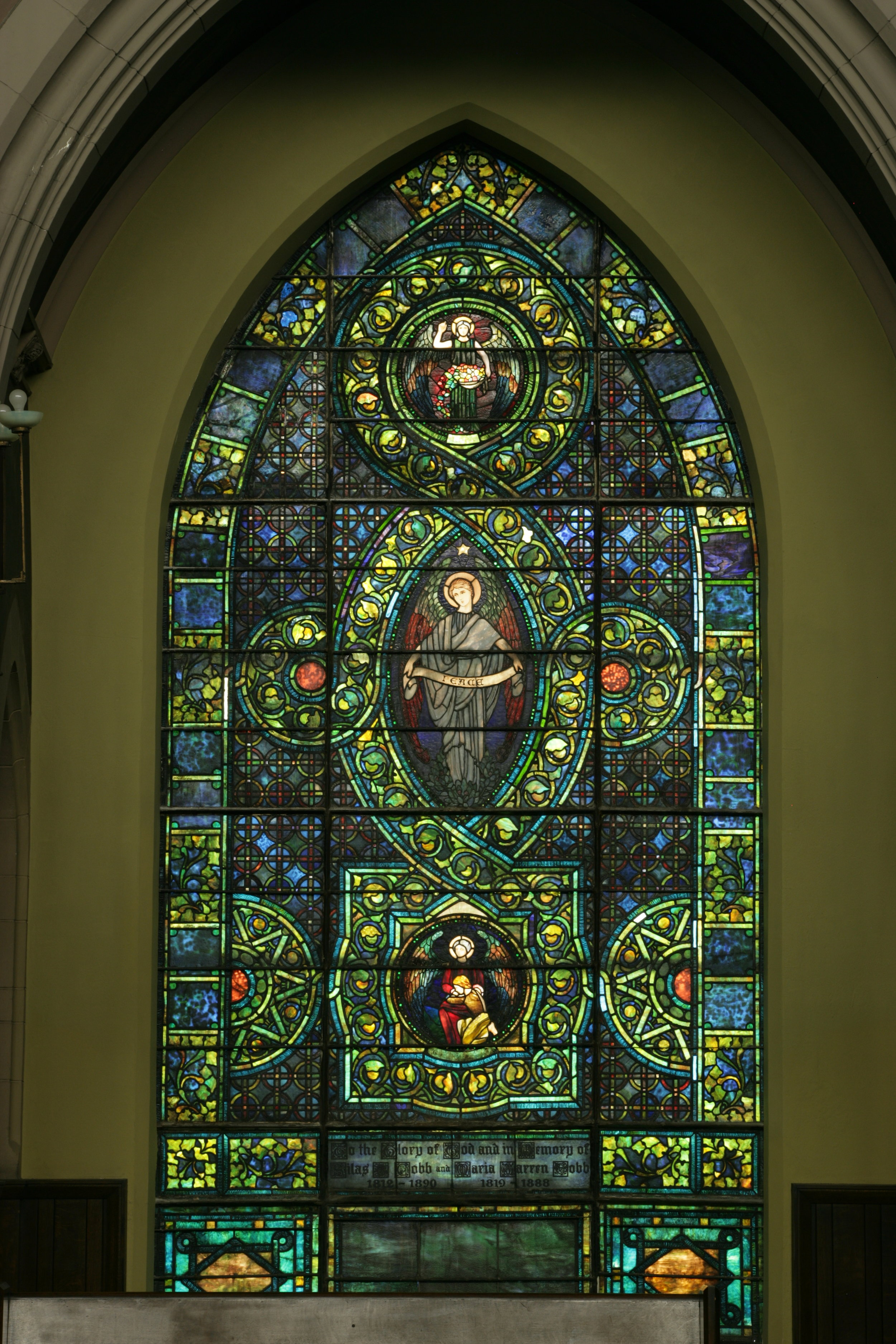 Peace Window before restoration