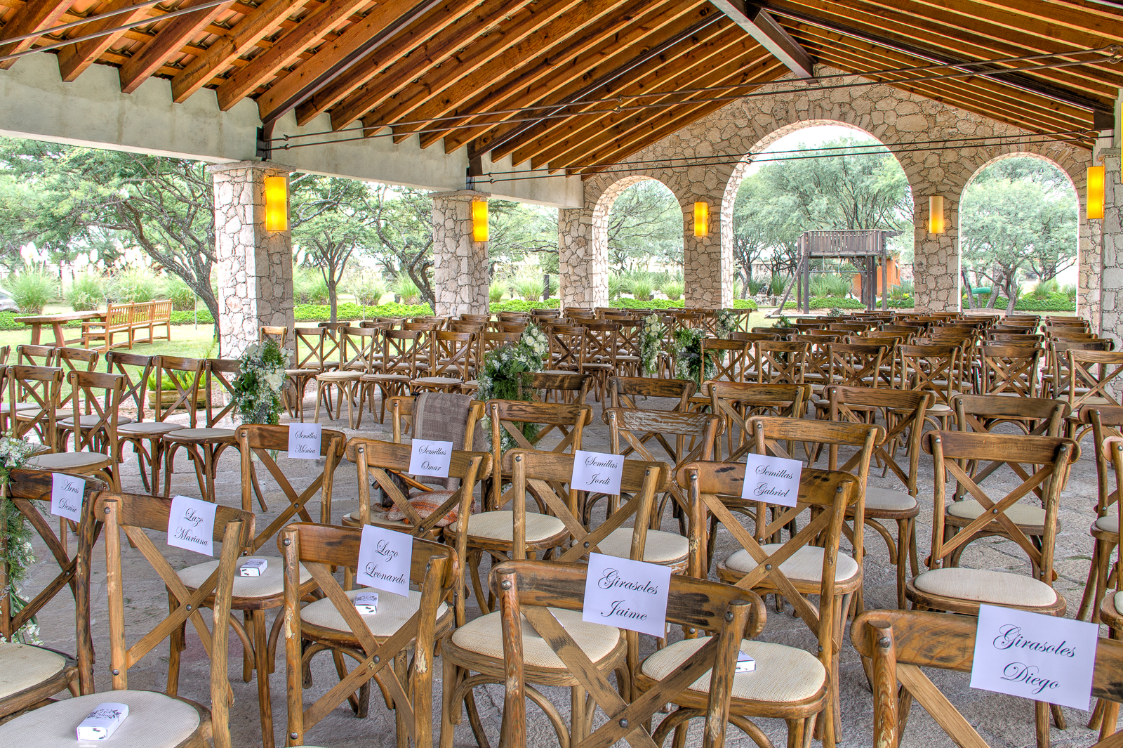 Ceremony at the pergola