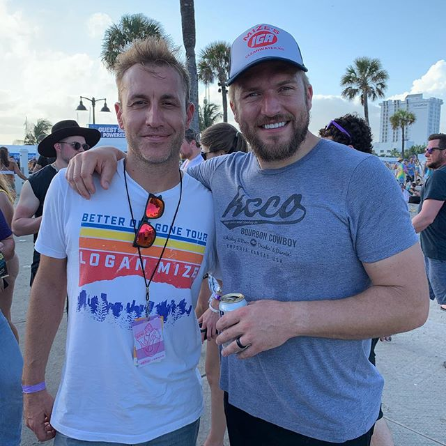 A great Sunday with my dear friend @loganmize at @tortugamusicfestival
