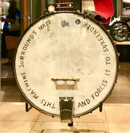 Woody Guthrie's banjo.