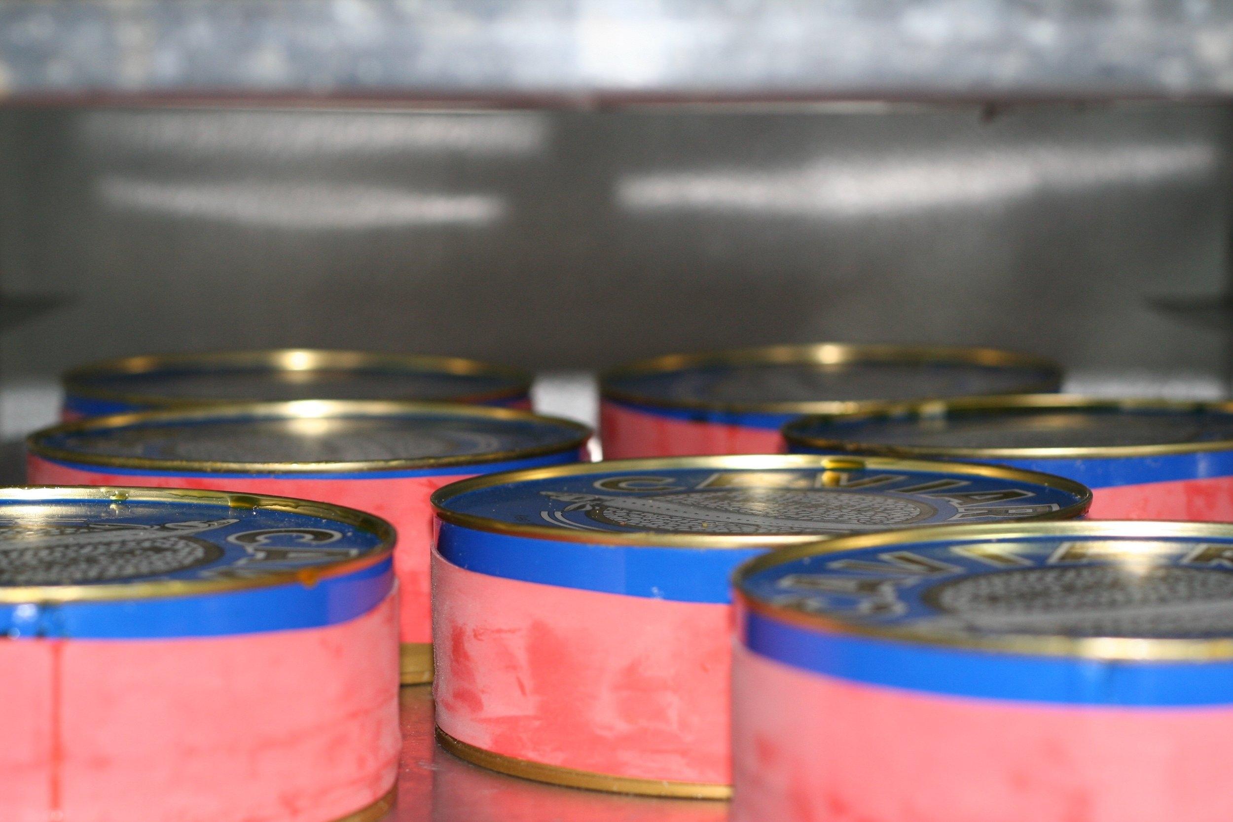 caviar tins