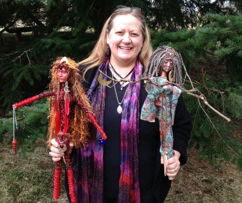 About Karen - Karen Karlovich has been designing and creating gorgeous spirit dolls since first attending a Women of Wisdom conference almost 20 years ago. She describes creating spirit dolls as a