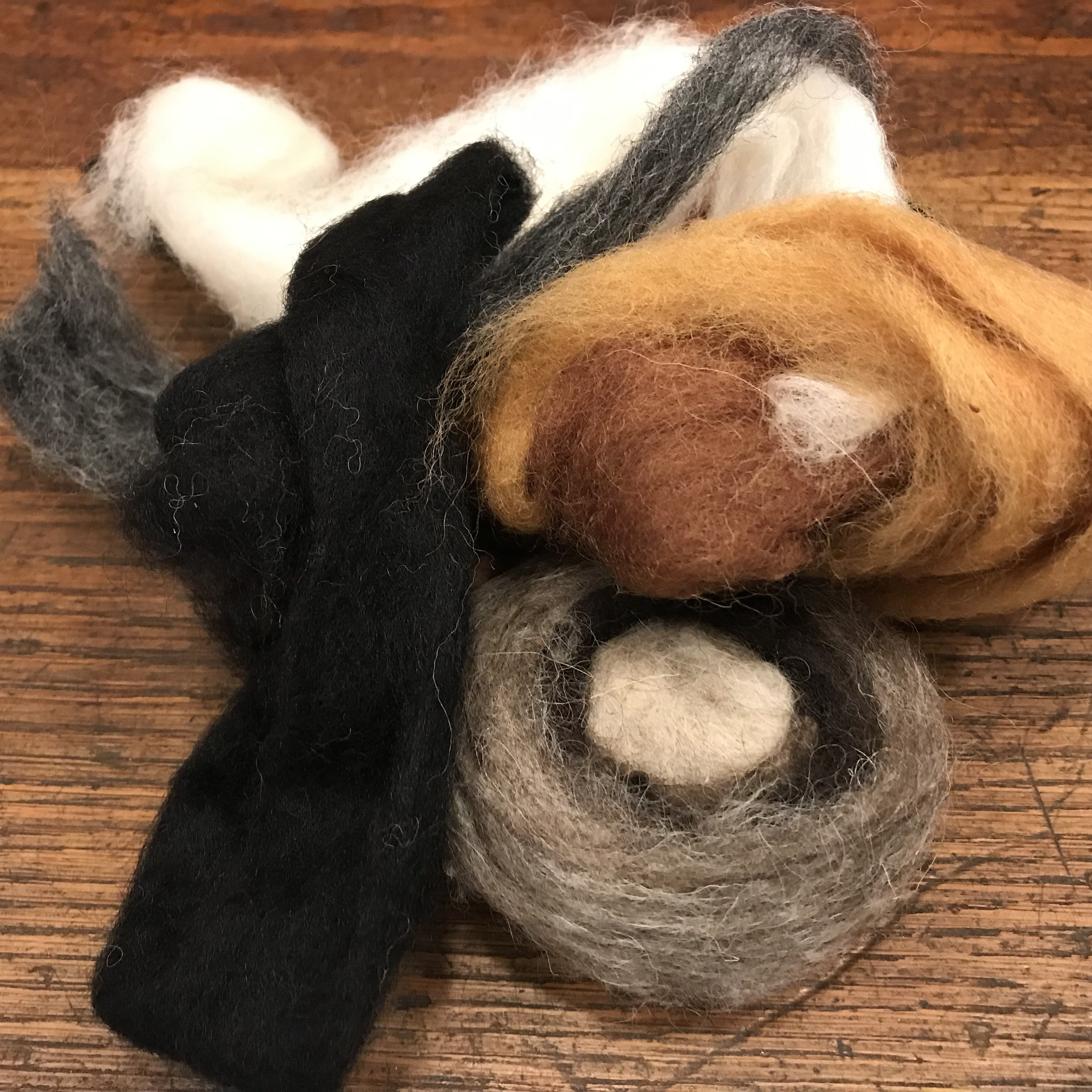 - Choose from many natural hues of wool roving to wrap around your lavender soap. The wool serves as an exfoliator and keeps the bar from getting slippery (or slimy).