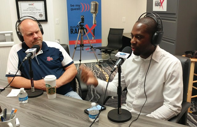 Steven interviews Tolu on Gwinnett Business Radio.jpg