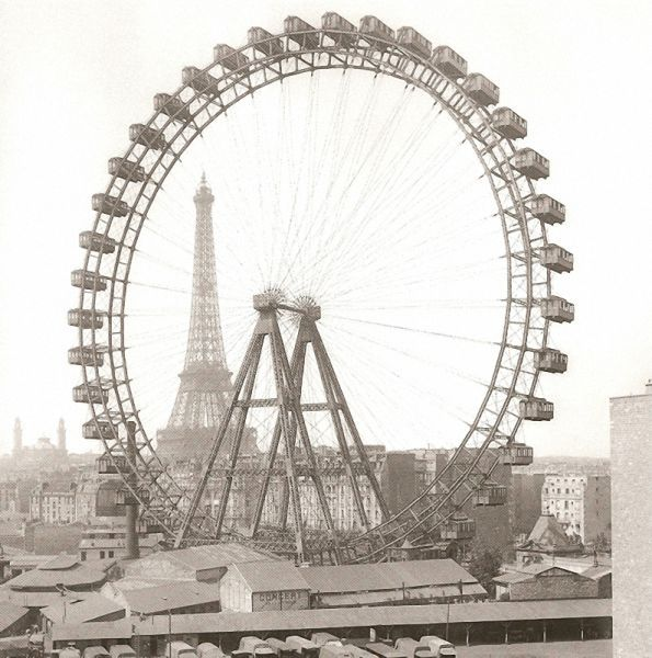 Some art historians have speculated that this view of the Eiffel Tower with the Grande Roue de Paris might have been an influence in the dynamic design of Tatlin's Tower
