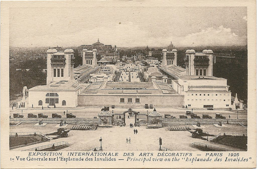 The view of the Exposition from  Les Invalides