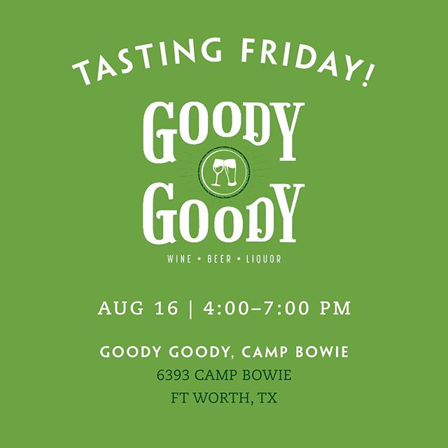 Join us for a tasting on Friday, 8/16 from 4:00pm to 7:00pm at the Camp Bowie Goody Goody. We'll have our Duckworth Sipping, Truffle, French Oak, and Grapefruit Mango Vodkas!  #vodkatasting #goodygoody #vodka #duckworthvodka #frenchoakvodka #texas #texasvodka #dallasdistillery #dallasvodka #bartender #cocktail #mixologist #dallas #austin #adultbeverage #cocktails #smoothvodka #bestvodka #grapefruitvodka #trufflevodka #truffle #premiumvodka