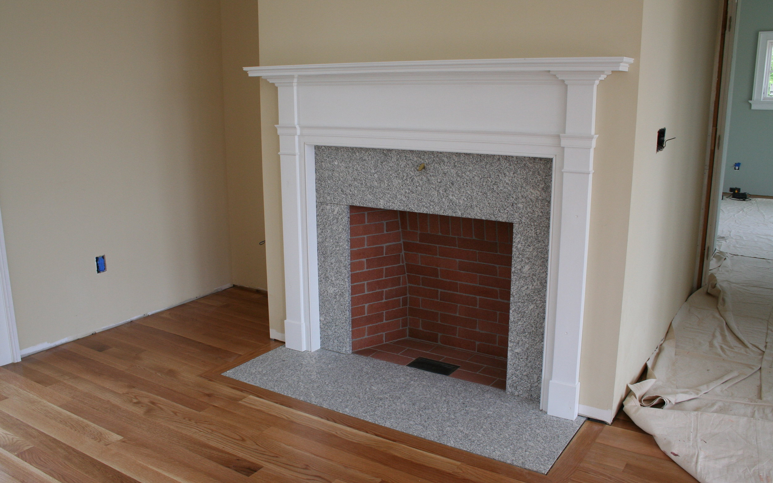 Simple fireplace and surround. Beautiful. Timeless.