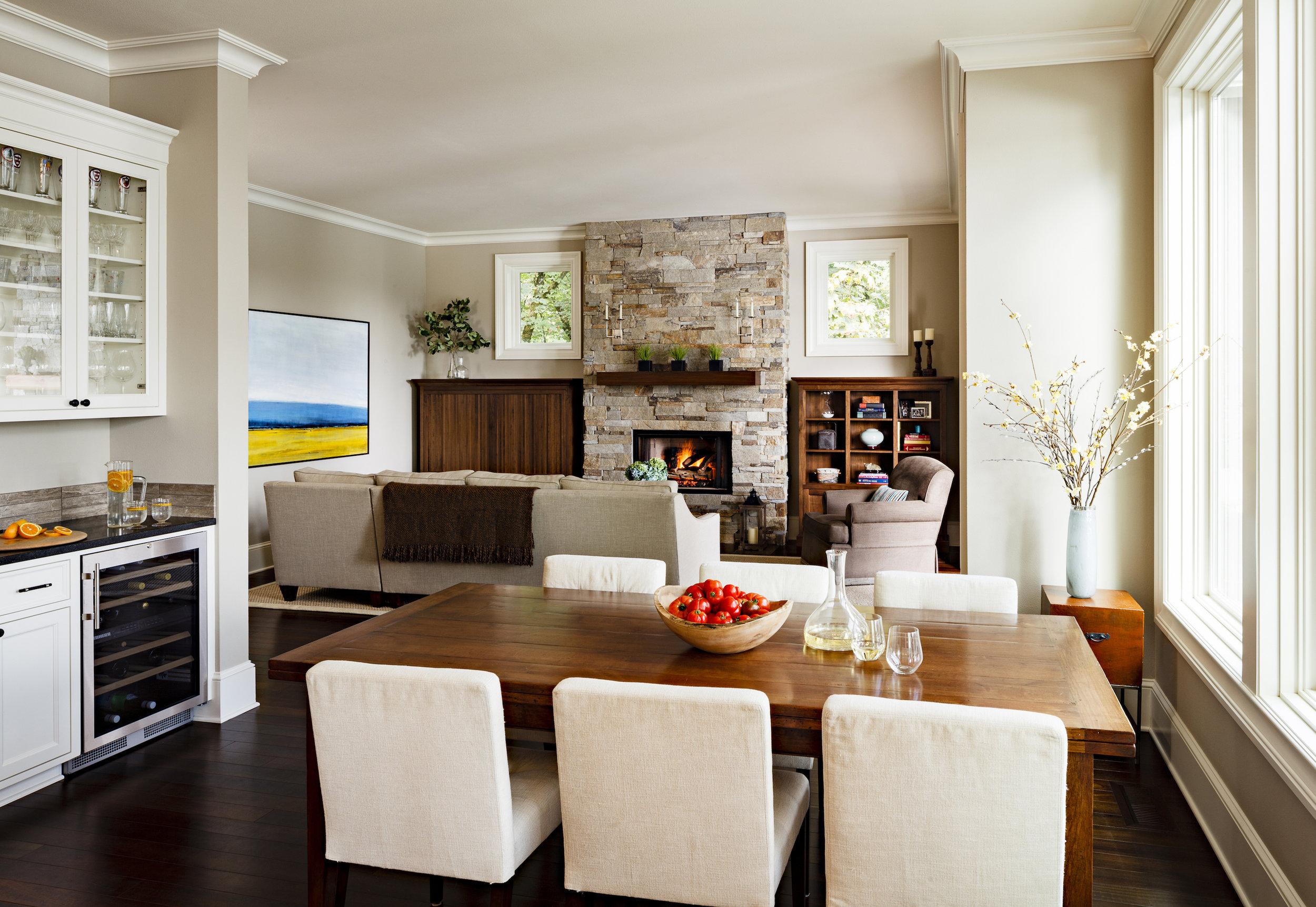 Dining room interior design by Jenni Leasia Interior Design in Portland